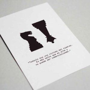 Postal Marcel Duchamp