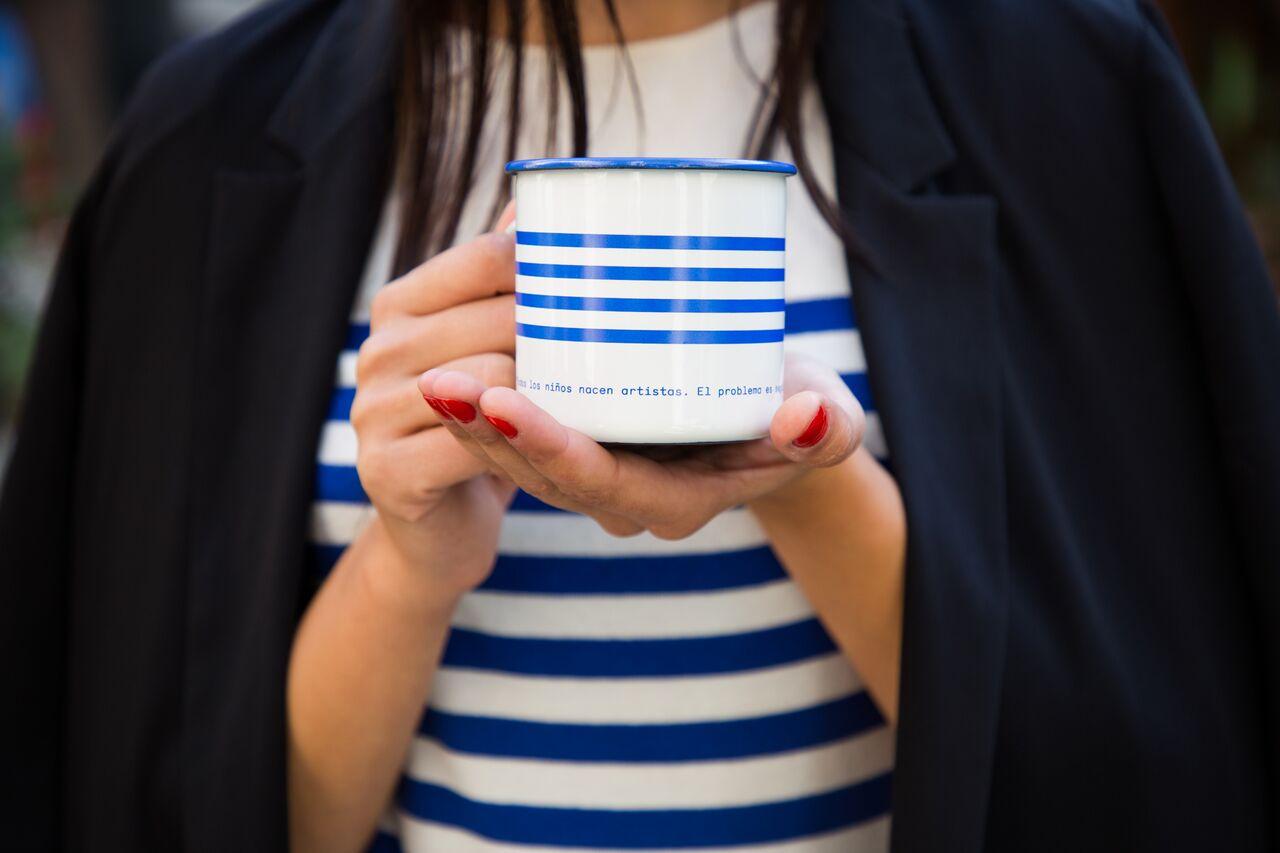 Picasso enamel mug