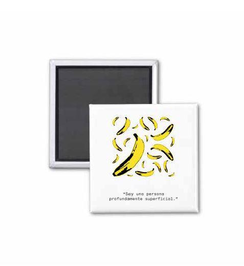 Imán bananas Andy Warhol